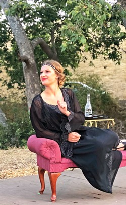 IN LOVE, WITHOUT A CLUE Olivia (Claire Gretlein) a wealthy heiress and countess falls in love with Cesario, who is really Viola. Uh oh! - PHOTOS COURTESY OF CENTRAL COAST SHAKESPEARE FESTIVAL