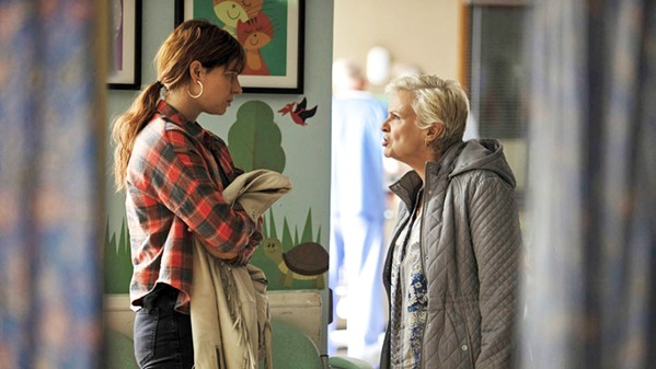 DRESSED DOWN Rose-Lynn (Jesse Buckley, left) gets an earful from her mother, Marion (Julie Walters), who objects to her dreams taking precedence over raising her children. - PHOTOS COURTESY OF FABLE PICTURES