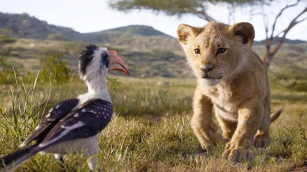 GROUND CONTROL TO MAJORDOMO Zazu (voiced by John Oliver), the king's majordomo, gives plenty of unwanted advice to Simba (voiced as a cub by JD McCrary), in Disney's The Lion King. - PHOTOS COURTESY OF DISNEY