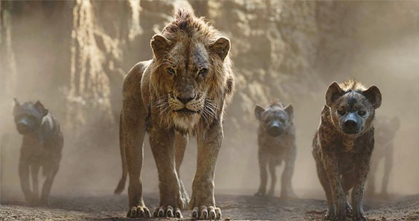 FOOL ME ONCE Disney film veterans once again revisit the evil and menacing Scar (voiced by Chiwetel Ejiofor) as he plots the demise of rightful ruler Mufasa (James Earl Jones) and his son, Simba (voiced as a cub by JD McCrary). - PHOTOS COURTESY OF DISNEY