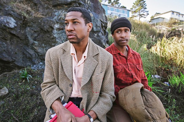 FINDING HOME Jimmie Falls (Jimmie Falls, right) and his friend Montgomery Allen (Jonathan Majors, left) reclaim Jimmie's childhood home, a Victorian built by his grandfather, in The Last Black Man in San Francisco. - PHOTO COURTESY OF A24