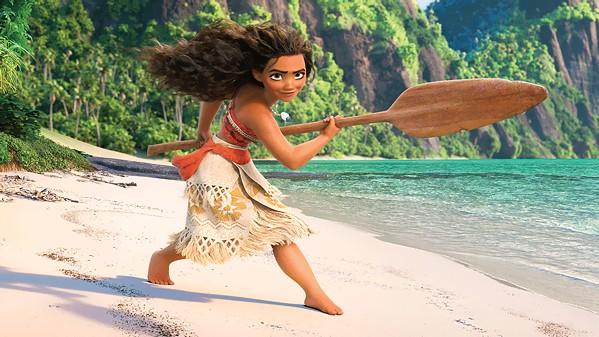 FIERCE Moana Waialiki (voiced by Auli'I Cravalho) works to lift a curse on her village in the 2016 animated adventure, Moana, screening July 27, outdoors at the Avila Beach Golf Resort. - PHOTO COURTESY OF WALT DISNEY ANIMATION STUDIOS