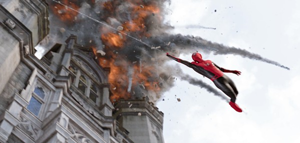 HE CAN SWING BY A THREAD Tom Holland returns as Peter Parker, aka Spider-Man, in the action-packed Spider-Man: Far From Home. - PHOTO COURTESY OF MARVEL STUDIOS