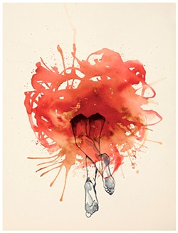 ANOTHER SIDE The Way Is Out is an original watercolor piece by Incubus lead singer Brandon Boyd. - PHOTOS COURTESY OF STUDIOS ON THE PARK