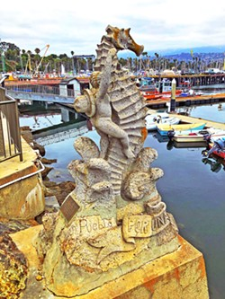SEEING THE SIGHTS The Santa Barbara Marina offers boat tours, kayak and stand-up paddleboard rentals, and fresh seafood at spots like Brophy Bros., where we had a great lunch. - PHOTOS BY GLEN STARKEY