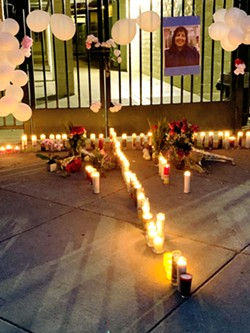 IN MEMORY Students light candles for former San Luis Obispo teacher Andrea Blanco, who passed away in June. Blanco was recognized for her impact in the local Latino community. - PHOTO COURTESY OF SAN LUIS COASTAL UNIFIED SCHOOL DISTRICT