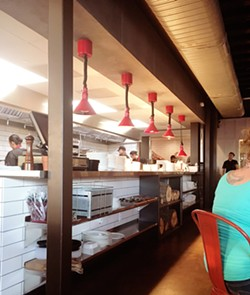 INDUSTRIAL SLICK It's a no-reservations type of place. The only restaurant in Tin City, Tin Canteen offers an exciting alternative to the typical Tin City food truck fare. - PHOTOS BY BETH GIUFFRE