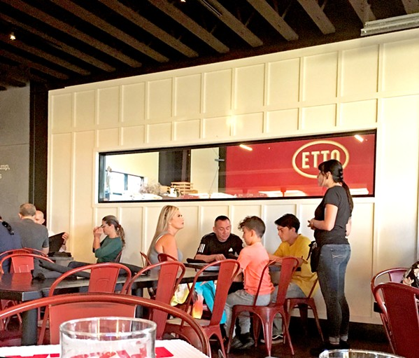 FREE TOUR Want to see how your pasta is made? Lift your child up to the window to the neighbors at Etto Pastaficio pasta factory. You may see your bucatini come right out of the pasta machine! - PHOTOS BY BETH GIUFFRE