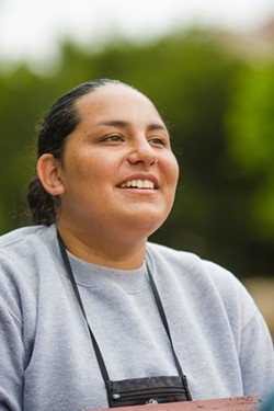 NEW BEGINNINGS Stephanie Recio-Soltero is making a change in her life, academically, mentally, and physically, for her almost 10-month-old daughter. - PHOTO BY JAYSON MELLOM