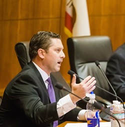 STAYIN' ALIVE? State Assemblyman Jordan Cunninhgam (R-Templeton) wants to keep Diablo Canyon running by passing a constitutional amendment to classify nuclear power as renewable energy. - FILE PHOTO BY JAYSON MELLOM
