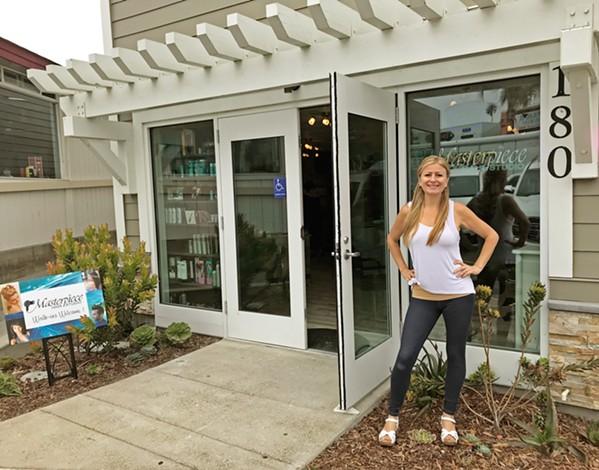 THE ART OF BUSINESS Longtime SLO County local Jessica Zerolis opened her own hair salon, Masterpiece Hair Studio, in Pismo Beach on Aug. 8. - PHOTO COURTESY OF JESSICA ZEROLIS