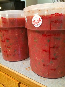 NEED ... MORE ... SALSA This is how much Best Ever Salsa my son Luke would eat if we let him. I make salsa from the tomatoes in my garden, but my youngest son will only eat the Twisselman Best Ever Salsa Company salsa over my homemade blend. - PHOTOS COURTESY OF KARLI TWISSELMAN