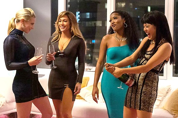 CHEERS A group of strip club performers led by Ramona (Jennifer Lopez, center left) exploit their Wall Street clients and extract their riches, in the crime dramedy based on a true story, Hustlers. - PHOTOS COURTESY OF GLORIA SANCHEZ PRODUCTIONS
