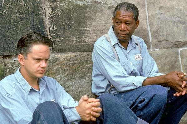 FRIENDSHIP The Shawshank Redemption (1994), starring Tim Robbins and Morgan Freeman, celebrates its 25th anniversary with screenings on Sept. 22, 24, and 25, at Downtown Centre Cinemas. - PHOTO COURTESY OF CASTLE ROCK ENTERTAINMENT