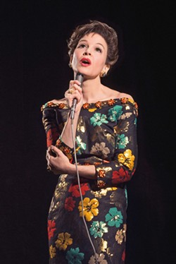 END OF THE RAINBOW Judy Garland (Renée Zellweger) arrives in 1968 London to perform a five-week sold-out series of concerts amid battling alcoholism, substance abuse, and depression, in Judy. - PHOTO COURTESY OF BBC FILMS