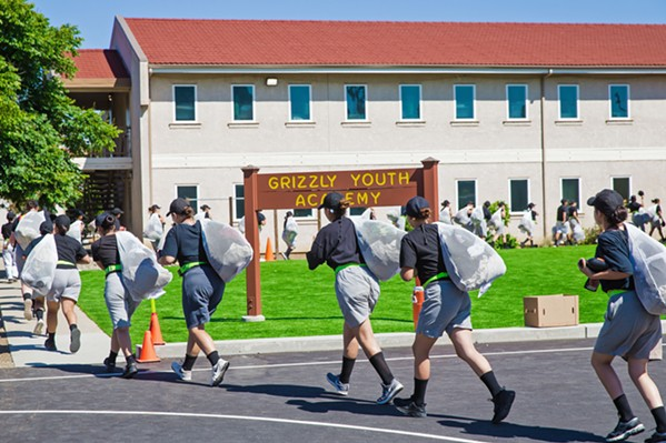 IN FORMATION In the spirit of support and teamwork, Grizzly Academy cadets do everything with their platoon. - PHOTOS BY JAYSON MELLOM