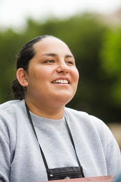 RESPONSIBILITIES Stephanie Recio-Soltero wants to continue her educational career by attending community college post Grizzly, but she wants to go to a place close to home to be with her 10-month-old daughter. - PHOTOS BY JAYSON MELLOM