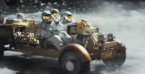 SPACE PIRATES? Don't go to Ad Astra expecting much action. The film is more interested in complicated questions involving loneliness and existentialism. - PHOTOS COURTESY OF NEW REGENCY PICTURES