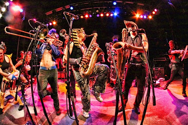 JOIN THE PARTY Brassy funk, rock, and jazz ensemble MarchFourth plays the SLO Brew Rock Event Center on Oct. 17. - PHOTO COURTESY OF MARCHFOURTH