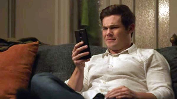 PHONING IT IN Phil's (Adam Devine) new A.I. operating system, Jexi (voiced by Rose Byrne), first builds his confidence but then undermines his new relationships, in Jexi, an unnecessary and utterly forgettable waste of time. - PHOTO COURTESY OF CBS FILMS