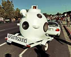 500 GALLONS OF 360-DEGREE SOUND Dance to an all-vinyl DJ Halloween dance party played through the one-of-a-kind Sun-1 spherical speaker on Oct. 31, at Bristol's Cider House. - PHOTO COURTESY OF DR. ISAPONY XD