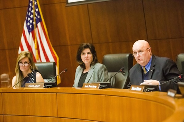 THREE AGAINST TWO The San Luis Obispo County Board of Supervisors voted 3-2 on Nov. 5 to send a letter responding to the California State Board of Food and Agriculture, which criticized the county for its Paso Robles groundwater policies. - FILE PHOTO BY JAYSON MELLOM