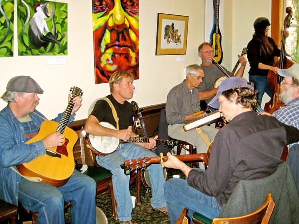 ART IN MANY FORMS Linnaea's Cafe in SLO doesn't limit itself to being a venue for visual arts: Musical performances are welcomed as well. - PHOTO COURTESY OF MARIANNE ORME