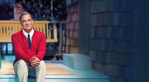 WON'T YOU BE MINE? Tom Hanks stars as beloved children's television host Mr. Rogers, who teaches journalist Tom Junod the meaning of compassion, in A Beautiful Day in the Neighborhood. - PHOTO COURTESY OF TRISTAR PICTURES