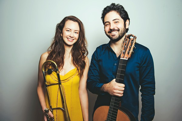 ALL THAT JAZZ The SLO Jazz Fed hosts the Natalie Cressman—Ian Faquini Duo in Unity Concert Hall on Dec. 5. - PHOTO COURTESY OF THE NATALIE CRESSMAN—IAN FAQUINI DUO