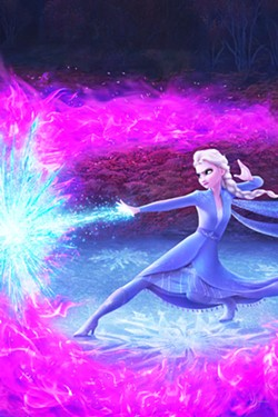 ICE QUEEN Elsa (voiced by Idena Menzel) uses her powers to control ice as she searches for the origins of those powers. - PHOTOS COURTESY OF WALT DISNEY ANIMATION STUDIOS