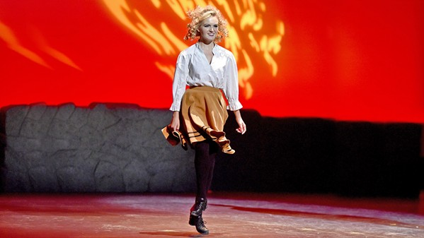 CHRISTMAS, IRISH STYLE! Riverdance principal dancer Caterina Coyne is one of many performers appearing at the Clark Center's An Irish Christmas on Dec. 11. - PHOTO COURTESY OF CATERINA COYNE