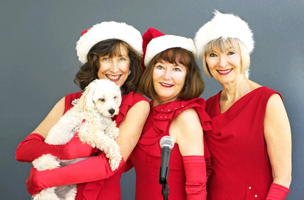 TIGHT VOCAL HARMONIES The In Time Trio bring their harmony-rich holiday sounds to D'Anbino on Dec. 15. - PHOTO COURTESY OF IN TIME TRIO