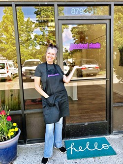 OPEN STUDIO Lisa Renée Falk opened Glasshead Studio this year in Atascadero, offering a creative space for the community to learn and practice glassmaking. - PHOTO COURTESY OF LISA RENÉE FALK