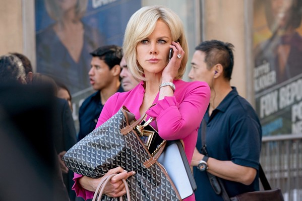 TRUE STORY Nicole Kidman portrays former television commentator Gretchen Carlson, who filed a lawsuit against former Fox News CEO Roger Ailes claiming sexual harassment, in Bombshell. - PHOTO COURTESY OF LIONSGATE