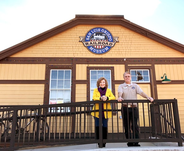 PRESERVING HISTORY SLO Railroad Museum Manager Diane Marchetti (left) and President Brad LaRose work daily to keep Central Coast railroad history alive. - PHOTOS BY PETER JOHNSON