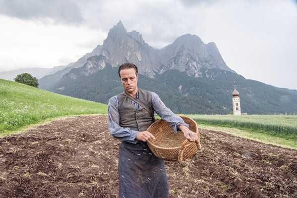 FACING FASCISM August Diehl stars as Austrian farmer Franz Jägerstätter, a conscientious objector who faces execution for refusing to fight for the Nazis in World War II, in auteur Terrance Malick's A Hidden Life. - PHOTO COURTESY OF STUDIO BABELSBERG