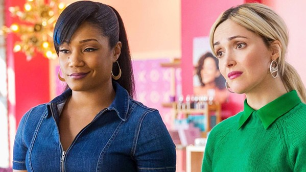 BEAUTY CONTEST Two friends—Mia Carter (Tiffany Haddish, left) and Mel Paige (Rose Byrne)—start Mel & Mia's, a cosmetics company, but they have very different ideas about how to run it, in Like a Boss. - PHOTO COURTESY OF PARAMOUNT PICTURES