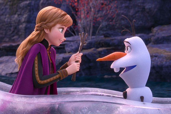 WINTER MAGIC Anna (Kristen Bell) and Olaf (Josh Gad) go on another adventure, this time to find the source of Anna's sister's power, in Frozen II. - PHOTO COURTESY OF WALT DISNEY ANIMATION STUDIOS