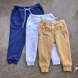 UPCYCLED Arroyo Grande-based seamstress Rachael Hansen makes children's sweatpants out of adult hoodies. - PHOTO COURTESY OF RACHEL HANSEN