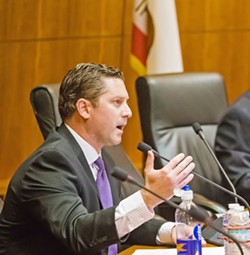 TRANSPARENCY A new Assemblyman Jordan Cunningham (R-San Luis Obispo) bill would extend the public's access to personnel records of police officers accused of sexual assault. - FILE PHOTO BY JAYSON MELLOM
