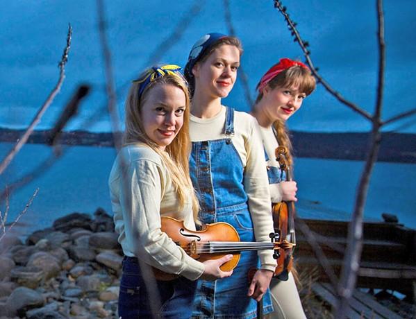 MUSIKALSKE GLOBETROTTERE Scandinavian fiddle trio Fru Skagerrak plays two SLOfolks shows this week, Jan. 17, at Coalesce Bookstore; and Jan. 18, at Castoro Cellars. - PHOTO COURTESY OF FRU SKAGERRAK