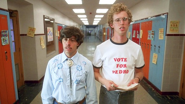 VOTE FOR (AND SEE) PEDRO See Napoleon Dynamite followed by a cast Q-and-A on Feb. 4, in Harold Miossi Hall of the Performing Arts Center, with both Pedro (Efren Ramirez, left) and Napoleon (Jon Heder, right) in attendance. - PHOTO COURTESY OF FOX SEARCHLIGHT PICTURES