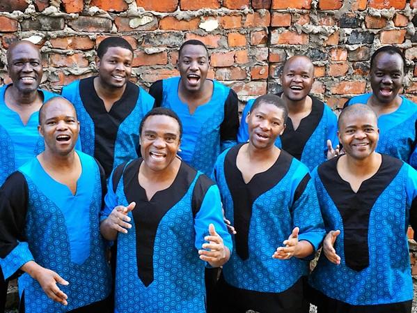 SOUTH AFRICAN SOUNDS Ladysmith Black Mambazo bring their amazing vocal gymnastics to the Fremont Theater on Feb. 11. - PHOTO COURTESY OF LADYSMITH BLACK MAMBAZO