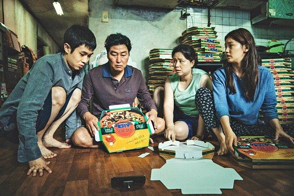 BEST PICTURE! The impoverished Kim family infiltrates a wealthy family, replacing their longtime employees, in the four-time Oscar winner Parasite. - PHOTO COURTESY OF BARUNSON E&A