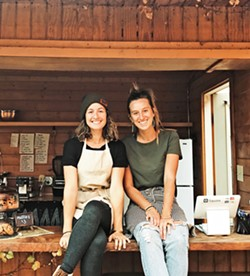 "A PLUS Friends and owners Amira Albonni (left) and Amanecer Eizner (right) both come from creative backgrounds. They plan to open a second location in March, lovingly dubbed ""HK 2.0,"" with the same organic, gluten-free, locally sourced model focusing on blue corn waffle dishes and healthy smoothies. - PHOTO COURTESY OF THE HIDDEN KITCHEN"