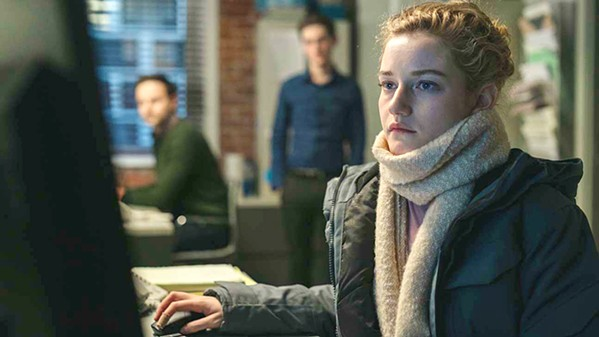 EYES EVERYWHERE Jane (Julia Garner), assistant to a powerful film company executive, slowly begins to understand the insidious abuse she faces, in The Assistant. - PHOTO COURTESY OF CINEREACH