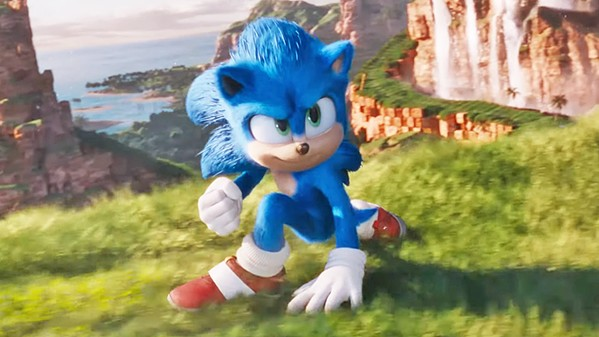 THE BLUE BLUR Sonic (voiced by Ben Schwartz) is being pursued by an evil genius that wants to steal his powers, in the family adventure Sonic the Hedgehog. - PHOTO COURTESY OF PARAMOUNT PICTURES