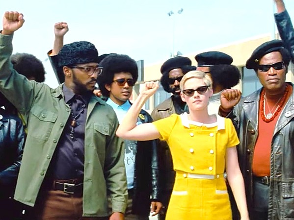 SOLIDARITY In Seberg, the life and death of French New Wave icon Jean Seberg (Kristen Stewart, center) and her involvement with the Black Panther Party is explored, questioning whether the FBI drove her to suicide. - PHOTO COURTESY OF PHREAKER FILMS
