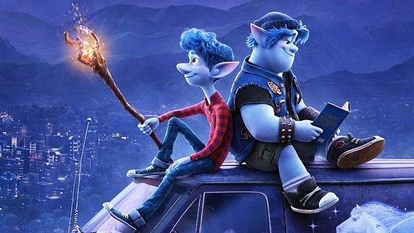 BROS Teenage elf brothers Ian (Tom Holland) and Barley Lightfoot (Chris Pratt) go on a quest to discover if magic still exists in the hopes of spending one day with their father, who died before they were old enough to remember him, in Onward. - PHOTO COURTESY OF PIXAR ANIMATION STUDIO