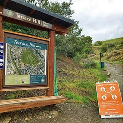 ENJOYING THE OUTDOORS Visitors can still enjoy open spaces and trails for the time being, as long as they maintain a 6-foot distance from others. - PHOTO COURTESY OF SLO PARKS AND RECREACTION INSTAGRAM